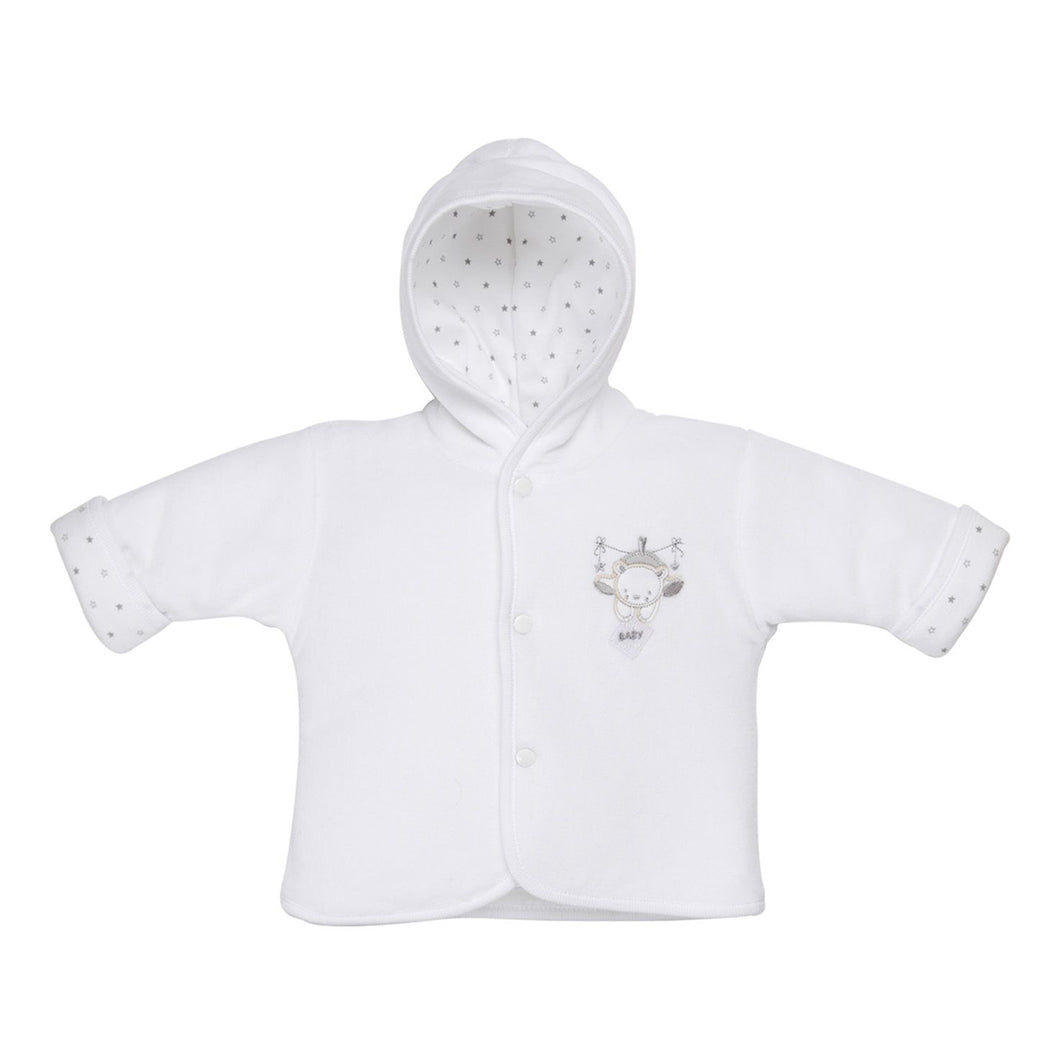 Tiny Baby Bear Hooded Jacket - White