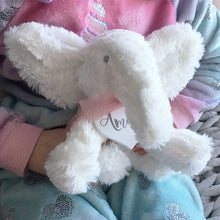 Load image into Gallery viewer, Personalised White Elephant Super Soft Teddy