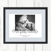 Load image into Gallery viewer, Our First Cuddle NICU Personalised Photo Print