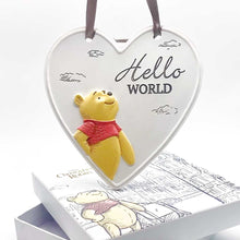 "Load image into Gallery viewer, Disney Christopher Robin Relief Heart ""Hello World Plaque"""