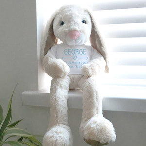Personalised Name Bunny (Silver, Pink, Blue)
