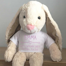 Load image into Gallery viewer, Personalised Name Bunny (Silver, Pink, Blue)