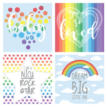 Load image into Gallery viewer, Rainbow NICU Incubator Art (Pack of 8)