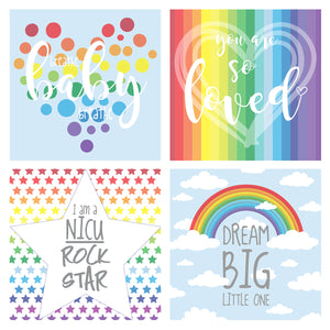 You added Rainbow NICU Incubator Art (Pack of 8) to your cart.