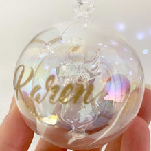Load image into Gallery viewer, Personalised Angel Iridescent Glass Bauble