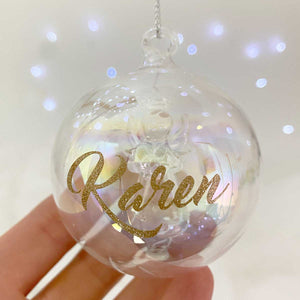 You added Personalised Angel Iridescent Glass Bauble to your cart.