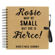Load image into Gallery viewer, Small But Fierce Personalised NICU Journey Scrapbook (Kraft, White)