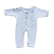 Load image into Gallery viewer, Incubator Velour 'Special Little Me' Baby Grow - Blue