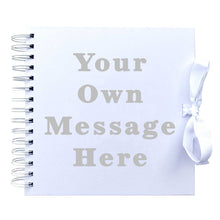 Load image into Gallery viewer, Your Own Message Scrapbook (Kraft, White)