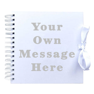 Your Own Message Scrapbook (Kraft, White)