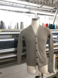 3D Knitwear Manufacturing Brooklyn Tailored Industry Grey Cable Knit Sweater