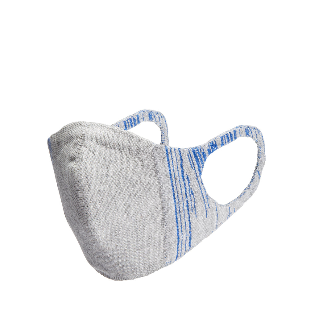 Kids 3D Knit Face Mask - Gray with Blue