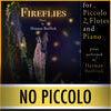 "PLAY ALONG - ""Fireflies"" (piccolo, 2 flutes, and piano) - NO PICCOLO - AUDIO MP3 Accompaniment - Herman Beeftink"