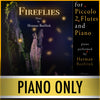 "PLAY ALONG - ""Fireflies"" (piccolo, 2 flutes, and piano) - PIANO ONLY - AUDIO MP3 Accompaniment - Herman Beeftink"
