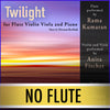 "PLAY ALONG - ""Twilight"" (flute, violin, viola, and piano) - NO FLUTE - AUDIO MP3 Accompaniment - Herman Beeftink"