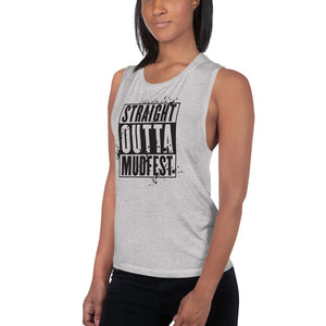 Straight Outta Mudfest Ladies' Muscle Tank
