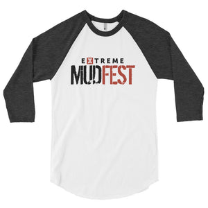 Extreme Mudfest Red & Black 3/4 sleeve raglan shirt
