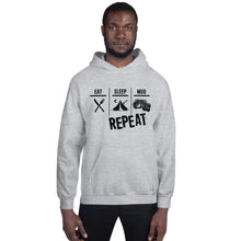 Load image into Gallery viewer, Eat Sleep Mud Repeat Unisex Hoodie