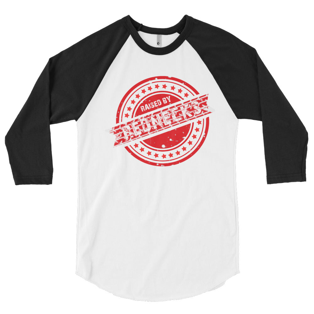 Raised By Rednecks #02 3/4 sleeve raglan shirt
