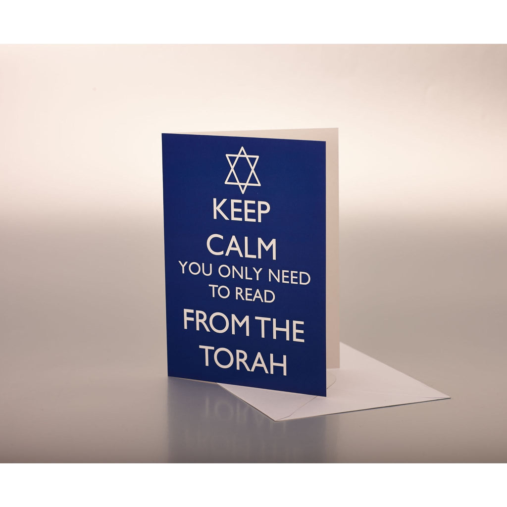 Keep Calm you only need to read from the Torah - Blue Card
