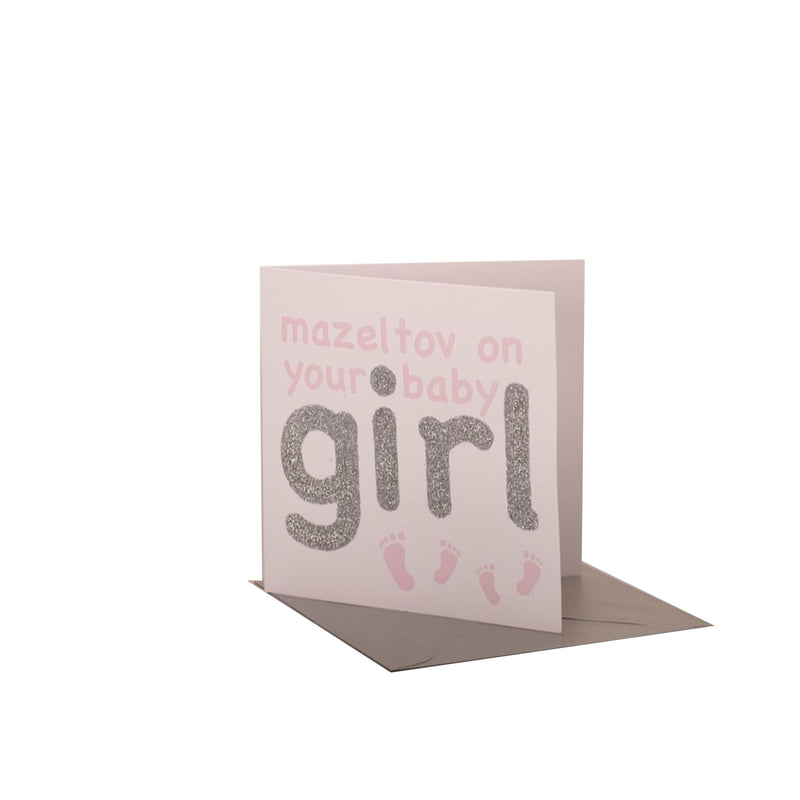 Mazeltov on Your Baby Girl Card