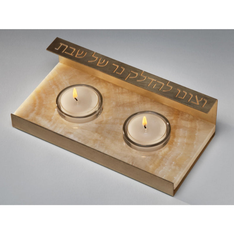 Natural Stone Shabbat Candleholders by Amy Reichart