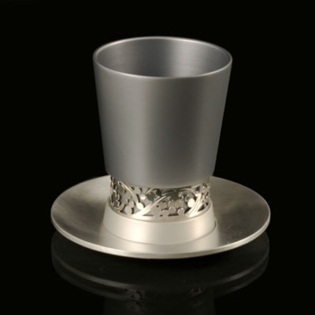 Kiddush Cup and Plate by Lev Schneiderman