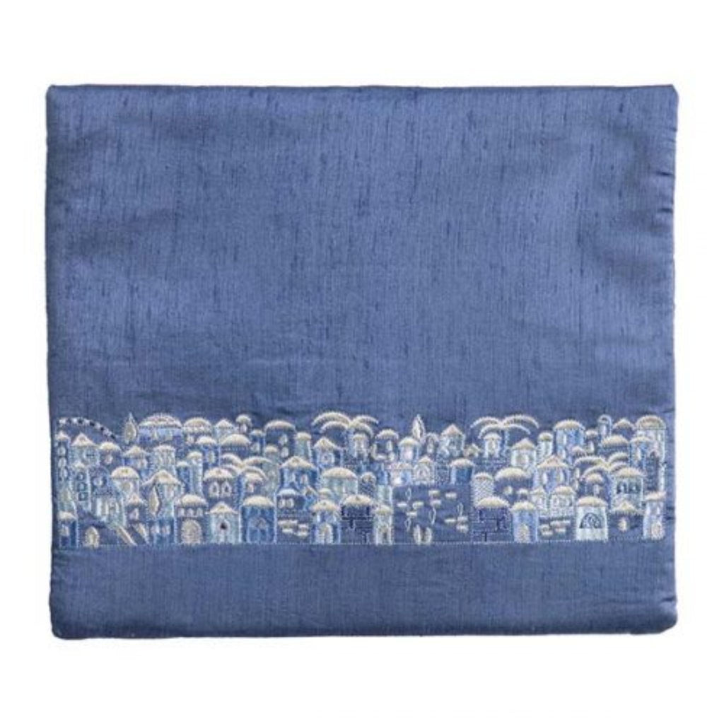 Jerusalem Blue/Grey Tefillin Bag by Yair Emanuel