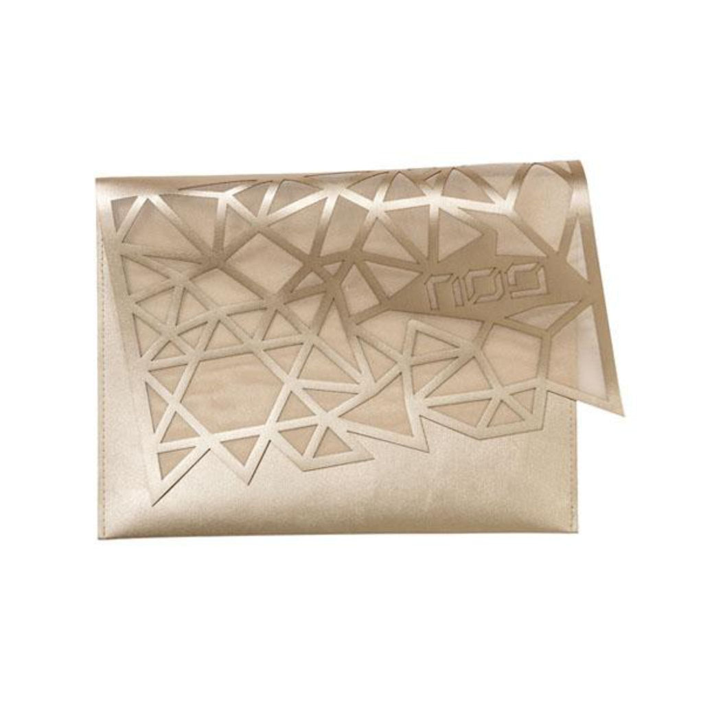 Geometric Afikomen Cover in Gold by Apeloig Collection