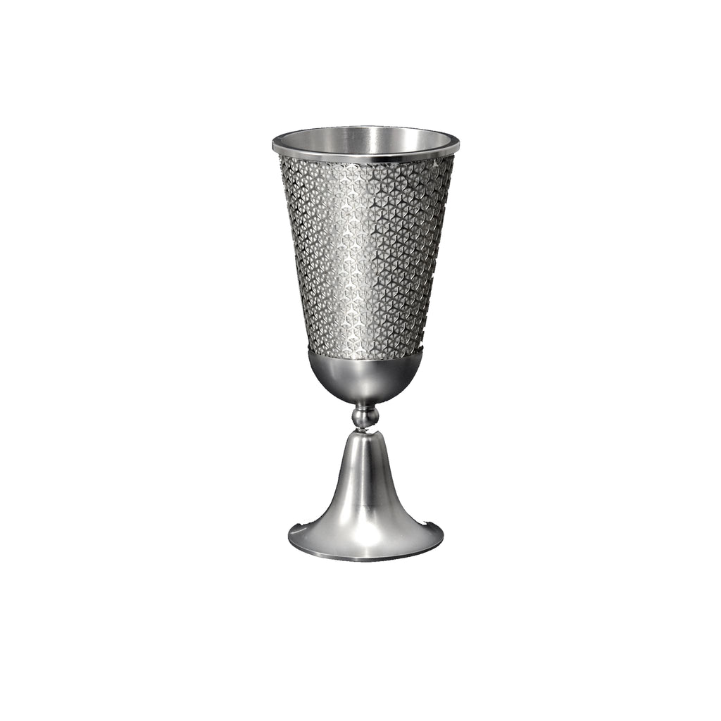 Lexi Kiddush Cup in White by Metalace Art