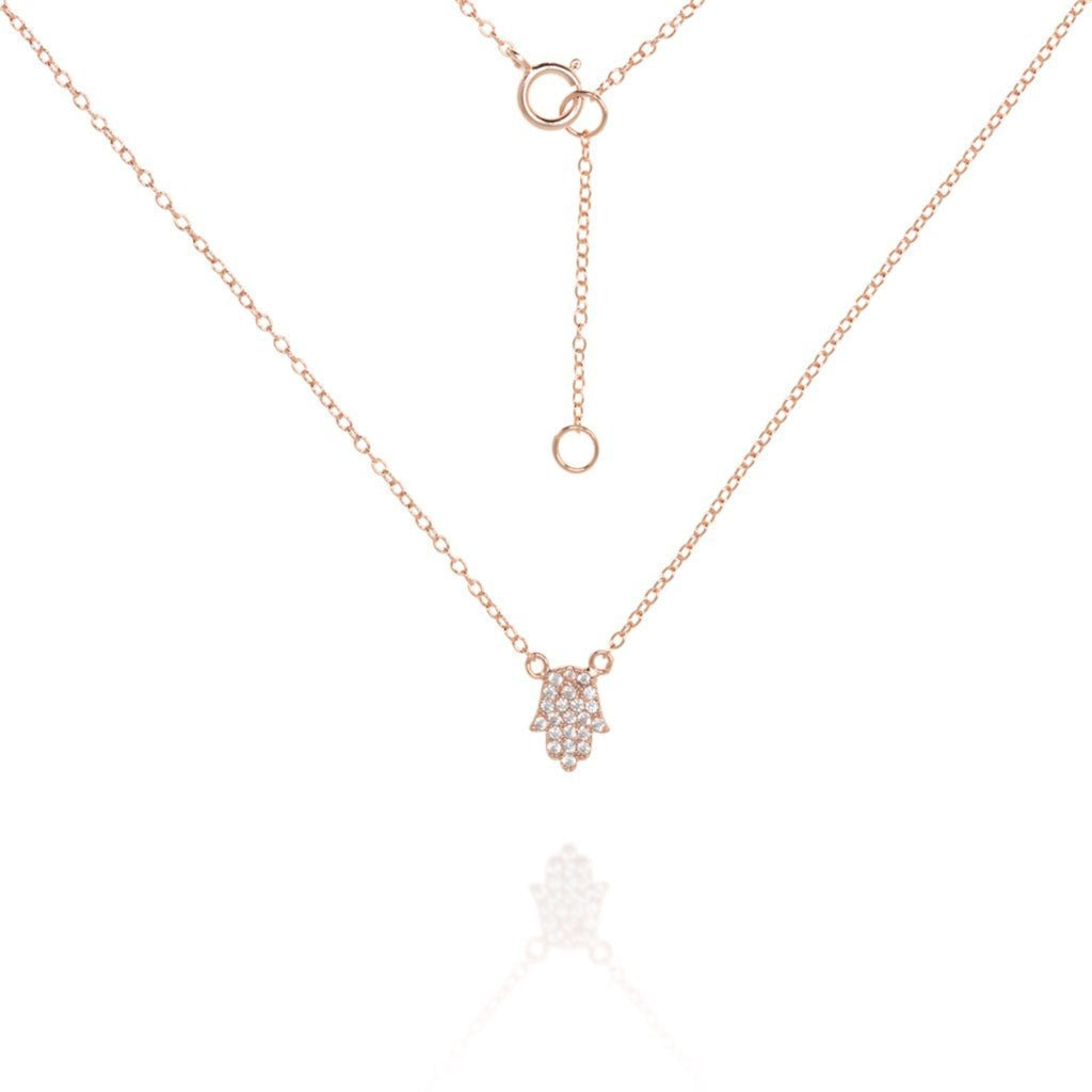 Delicate Hamsa & Chain Gold Necklace by Penny Levi