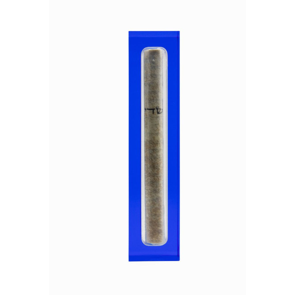 Acrylic Mezuzah in Blue by Apeloig Collection