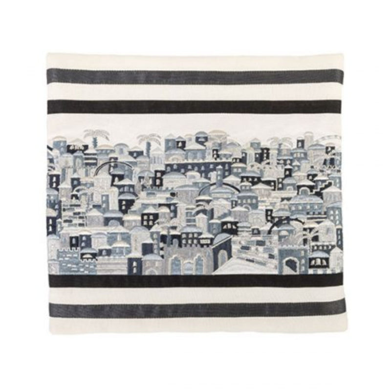 Jerusalem Black/Grey Tallit Bag by Yair Emanuel