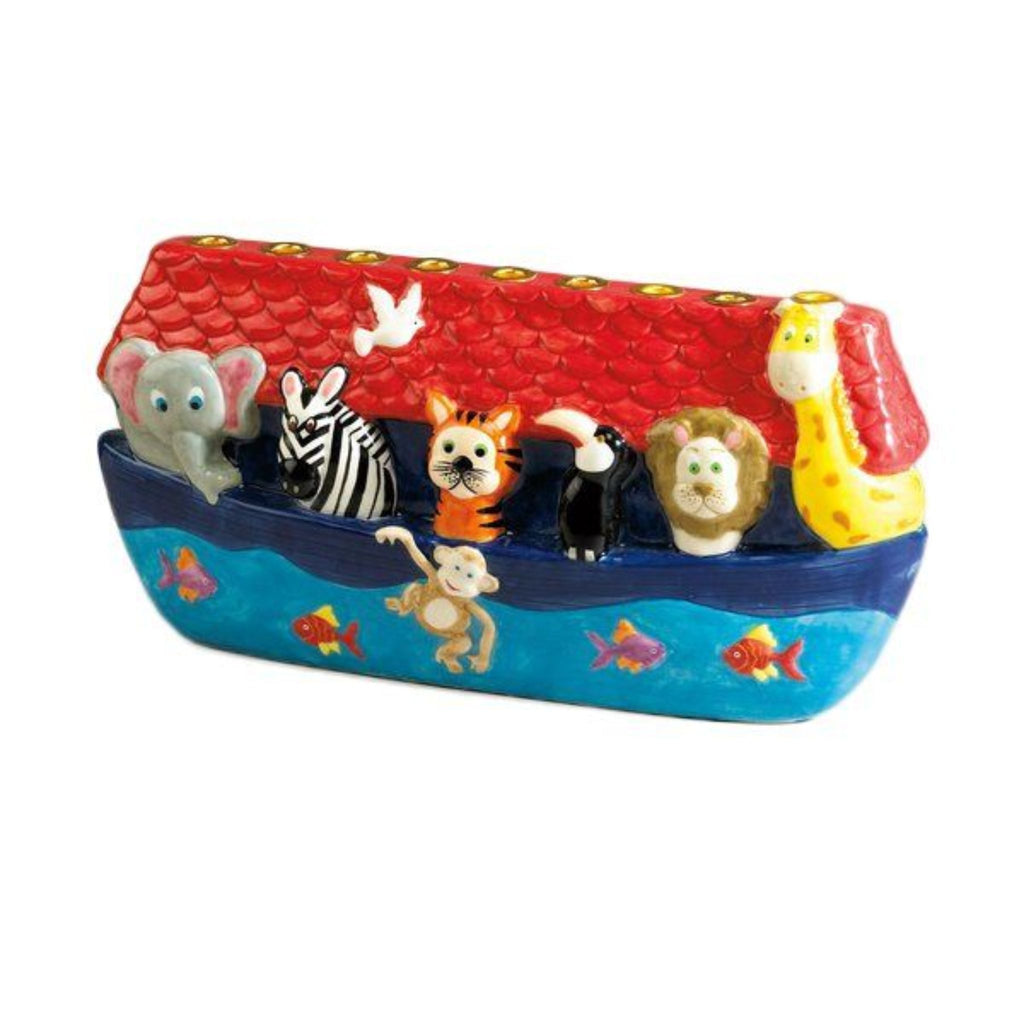 Chanukiah - Noah's Ark Hand Painted Ceramic
