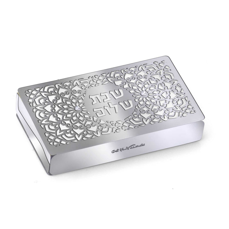 Large Laser Cut Out Match Box Cover with Shabbat Shalom by Dorit
