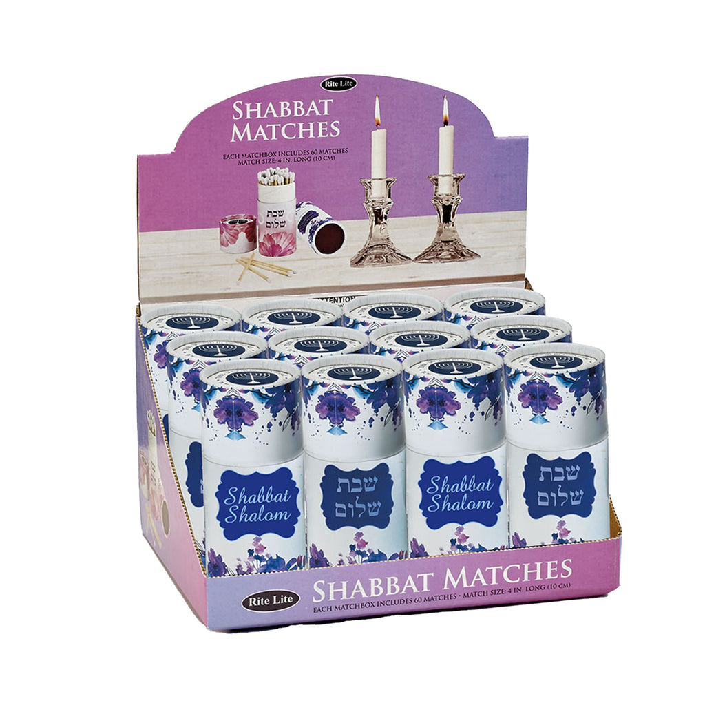 Long Shabbat Matches in Upright Gift Box
