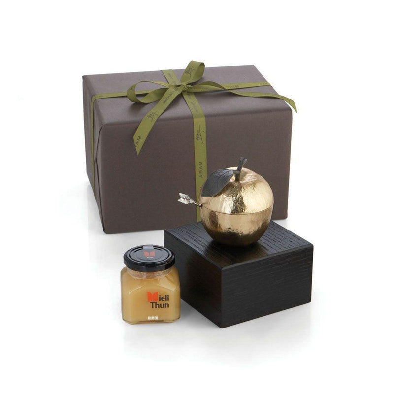 Apple Honey Pot Kosher Gift Set by Michael Aram
