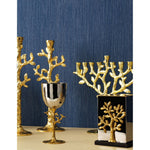 Tree of Life Chanukiah in Gold by Michael Aram