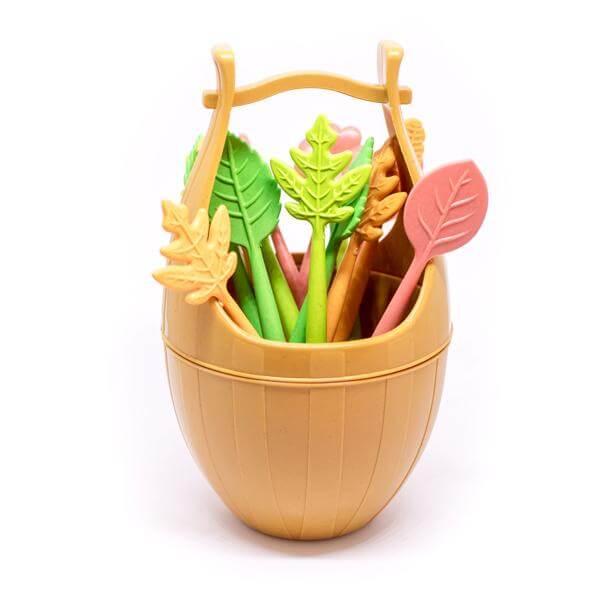 16 Leaf shaped food forks - KiddyPlanet