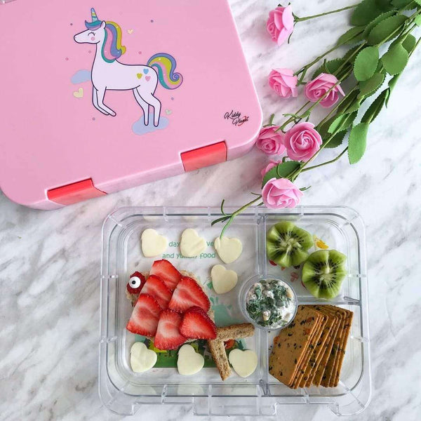 Pink Magical Unicorn Bento Lunch Box - KiddyPlanet