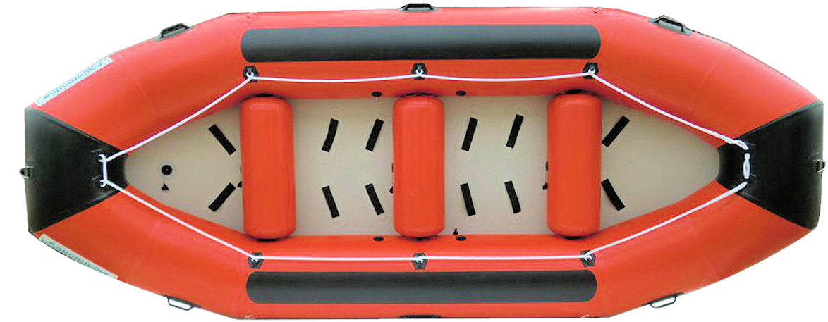 Inflate this Rescue Boat by using either a foot pump or self-contained breathing apparatus