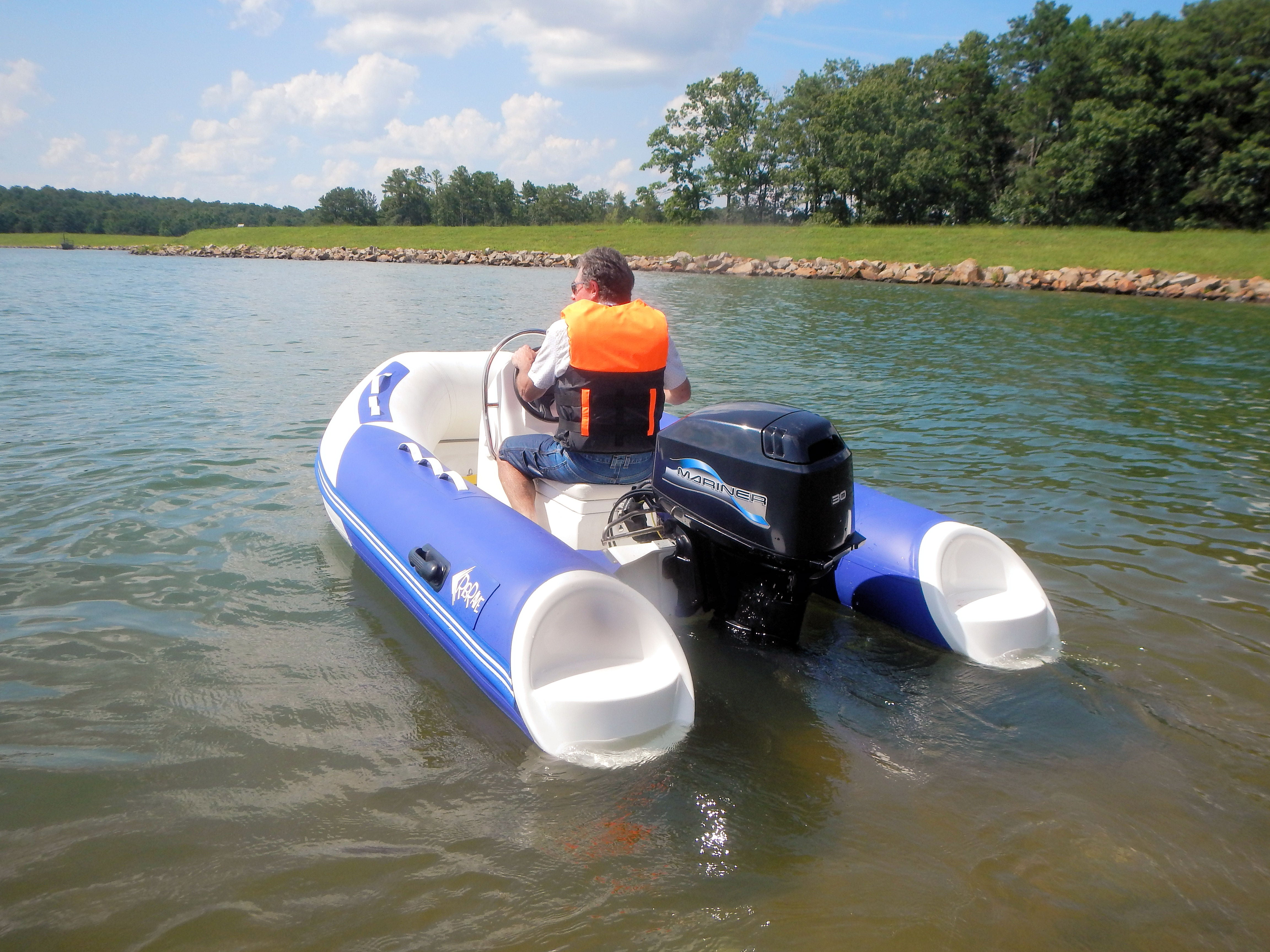 """10' 6"""" JS17 Rigid Hull Inflatable Boat with Mariner 30HP Outboard Motor ..."""
