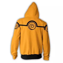 Load image into Gallery viewer, Naruto Uzumaki Zipper Hoodie Orange