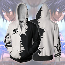 Load image into Gallery viewer, Fairy Tail Gray Zip Up Hoodie