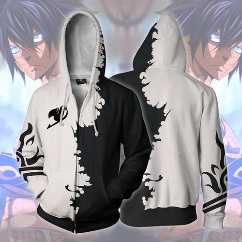 Fairy Tail Gray Zip Up Hoodie