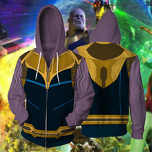 Load image into Gallery viewer, Avengers: Endgame Thanos Movie Zipper Hoodie