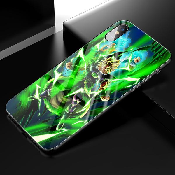 Dragon Ball Super Broly Anime Phone Case-Tempered Glass Cover