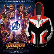 Load image into Gallery viewer, Avengers Endgame Advanced Tech Zipper Hoodie