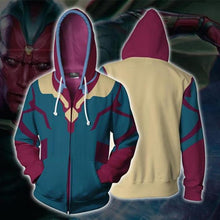 Load image into Gallery viewer, Avengers: Endgame Vision Anime Zipper Hoodie