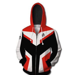 Avengers Endgame Advanced Tech Zipper Hoodie